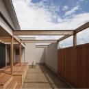 開放的なテラス・庭