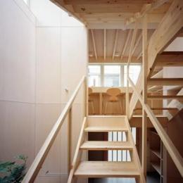 階段からスタディスペースを見る
