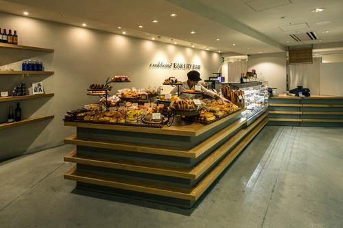 『cookhouse BAKERY BAR』カウンターのデザインの部屋 地形のように折れ曲がったカウンター