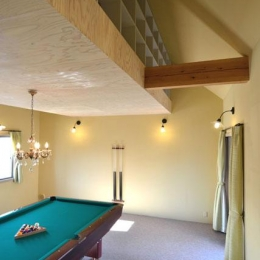 ビリヤード室-屋根裏収納
