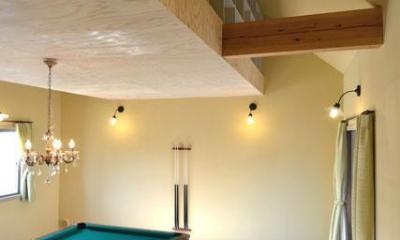 ビリヤード室-屋根裏収納|『菖蒲町の家/Country House』プロバンス風の週末住宅
