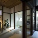 書斎・ガラス張りのバスルーム