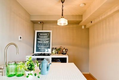 キッチン (お部屋の魅力を存分に引き出す_中古マンションペイントリノベーション)