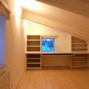 『O-house』L字型の住まいの写真 ロフトの書斎