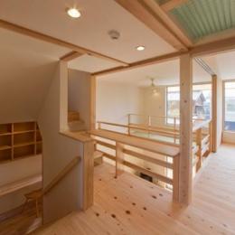 『天白の家 XI』のびのび暮らす住まい (光が注ぐ2階フリースペース)
