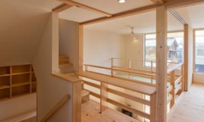 光が注ぐ2階フリースペース|『天白の家 XI』のびのび暮らす住まい