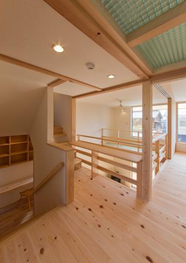『天白の家 XI』のびのび暮らす住まいの部屋 光が注ぐ2階フリースペース
