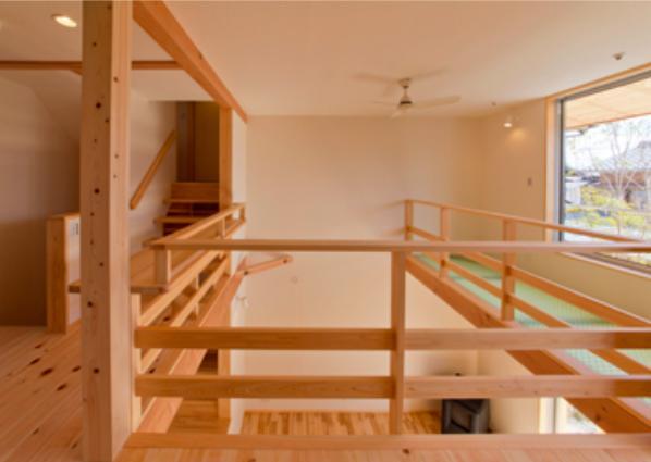 『天白の家 XI』のびのび暮らす住まいの部屋 明るい吹き抜け部分