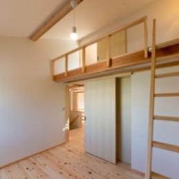 『天白の家 XI』のびのび暮らす住まい (ロフト付きの子供部屋)