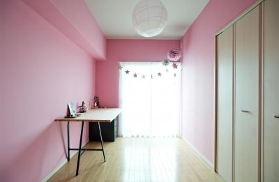 仕事部屋 (パリのアパルトマンに憧れて_中古マンションのペイントリノベーション)