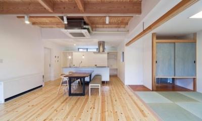 畳室のあるLDK|『金石の家』プライバシーを守りながら開放的に暮らす家