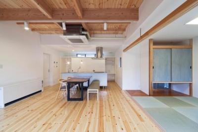 『金石の家』プライバシーを守りながら開放的に暮らす家 (畳室のあるLDK)