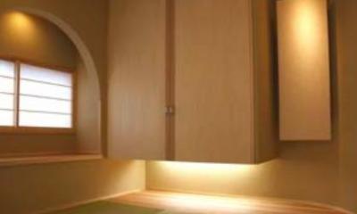 『谷保の家』木と漆喰の家 (和室)