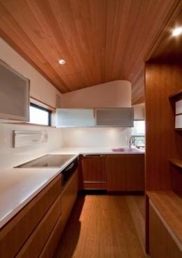 『OK-house』アメリカンブラックチェリーの家 (木目の美しいキッチン)