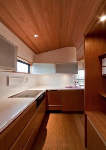 『OK-house』アメリカンブラックチェリーの家の部屋 木目の美しいキッチン