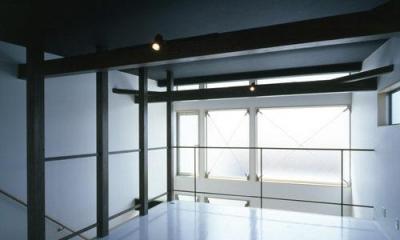 2階オープンスペース|モノトーンの家