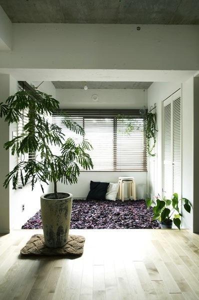 アンティーク&グリーンの部屋 リビング-寛ぎの空間