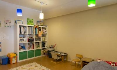 カラフルな子供部屋|M邸・子供も大人も楽しく安心に暮らす家