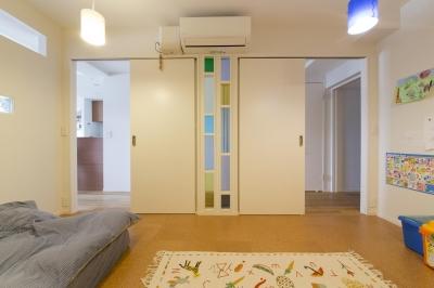 子供部屋-将来は2部屋に (M邸・子供も大人も楽しく安心に暮らす家)