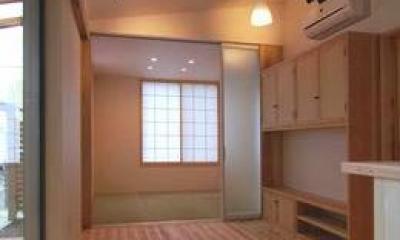 畳室のある開放的なLDK|『停止線前の家』昭和の香りを残すバリアフリー住宅リノベ