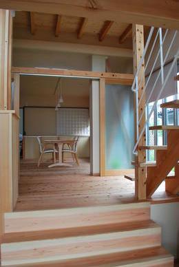 『つなぐ家』自然素材をふんだんに使った住まいの部屋 家族をつなぐスキップフロア