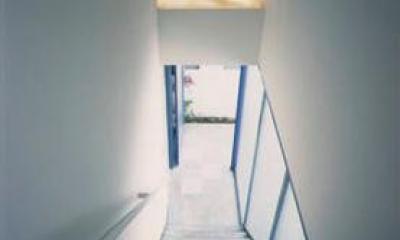 『スチールエコハウス#1』高性能住宅 (階段アプローチ)