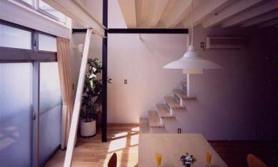 優しい光に包まれるリビング|『スチールエコハウス#1』高性能住宅