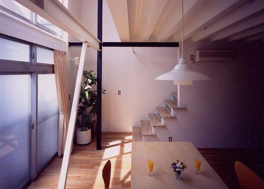 『スチールエコハウス#1』高性能住宅 (優しい光に包まれるリビング)