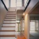 『ライト・BOX』古民家の良さを受け継ぐ近未来的な住まいの写真 3階につながる階段-1
