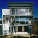 『空を臨む家』光と風を取り入れる緑豊かな住まいの写真 空を臨む家外観-1