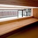 1.5階のロフト-ワークテーブル