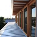 『ながらはうす』眺望のすばらしい二世帯住宅の写真 気密性のいい木製窓
