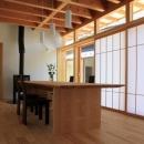 『ながらはうす』眺望のすばらしい二世帯住宅の写真 1階ダイニング-障子戸で明るさを調整