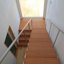 『ながらはうす』眺望のすばらしい二世帯住宅の写真 大きな窓のある明るい階段室-2