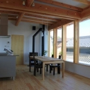『ながらはうす』眺望のすばらしい二世帯住宅の写真 薪ストーブのある2階LDK