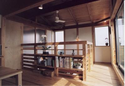 2階多目的ルーム・吹き抜け上部 (石川町の家)