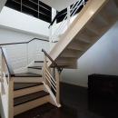 階段-玄関から2階リビングへ