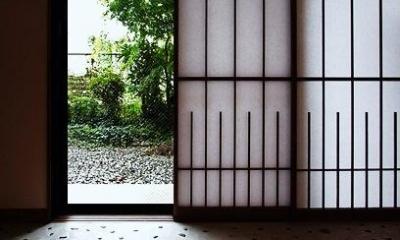 オリジナルの障子戸|『350 WASABI』和の素材がピリッと際立つモダンな空間