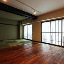 『350 WASABI』和の素材がピリッと際立つモダンな空間の写真 和室・リビング