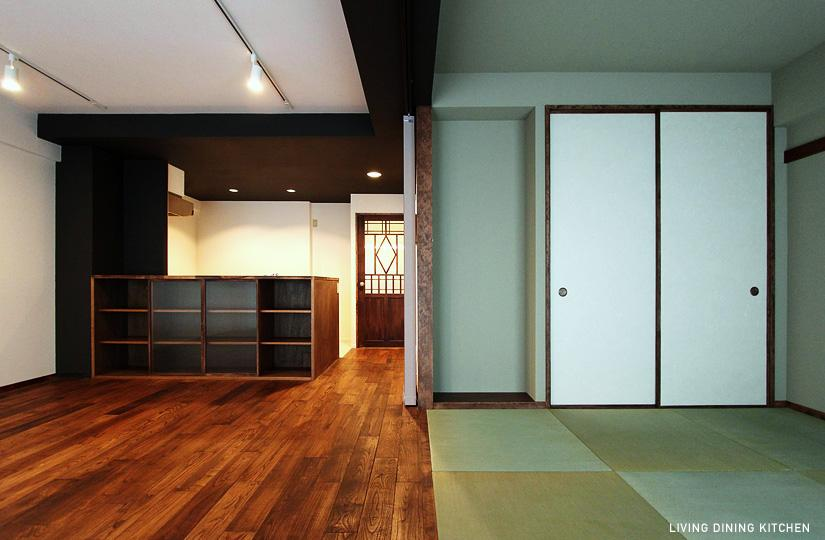 『350 WASABI』和の素材がピリッと際立つモダンな空間