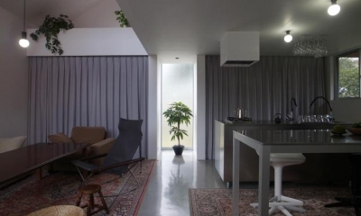 『青海町の家』スタイリッシュなアトリエ兼用住宅 (スタイリッシュなLDK)