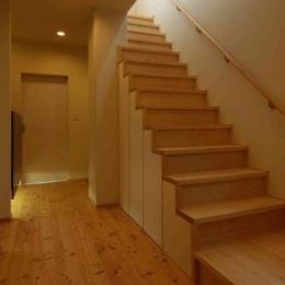 『今沢の家』自然素材のナチュラルな住まい (廊下・階段)