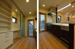『今沢の家』自然素材のナチュラルな住まい (対面式キッチン)