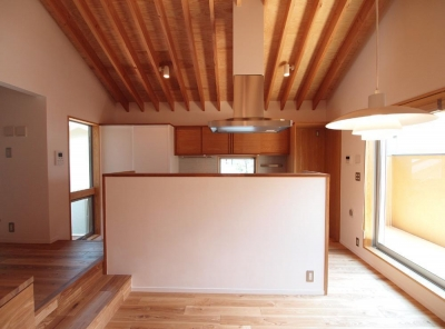 キッチンを見る (吉祥寺の家)