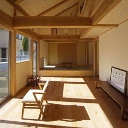 『舞台のある家』変化を楽しめる木の家 (木の温もり感じるLDK)