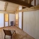 『舞台のある家』変化を楽しめる木の家の写真 木に囲まれた寝室