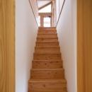 『舞台のある家』変化を楽しめる木の家の写真 シンプルな木製階段