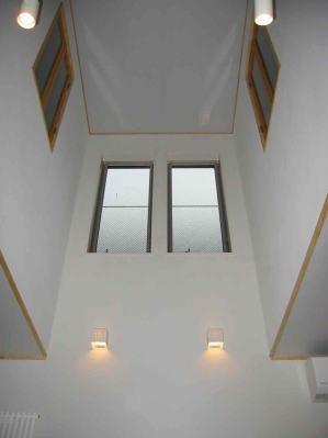 『自然素材と外断熱の家』ナチュラルな住まいの部屋 ダイニング上部の吹き抜け