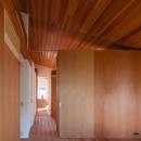 『西向きの家』デッキテラスがつなぐ住まいの写真 木に囲まれた空間