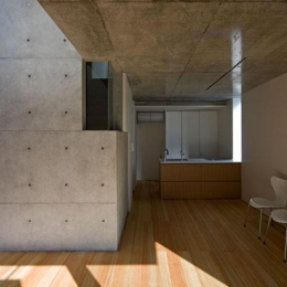 『タテ町家』木×コンクリートのクールな住まい (木×コンクリートのクールなLDK)